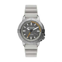 Light Grey Peak Patrol Rubber Analogue Columbia Watch CSC03-004