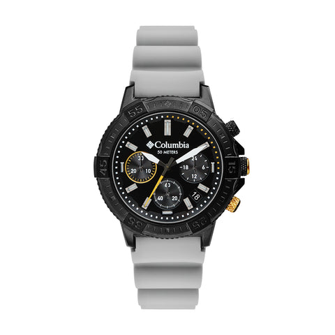 Light Grey Peak Patrol Rubber Chronograph Columbia Watch CSC03-005