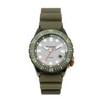 Green Pacific Outlander Rubber Analogue Columbia Watch CSC04-004