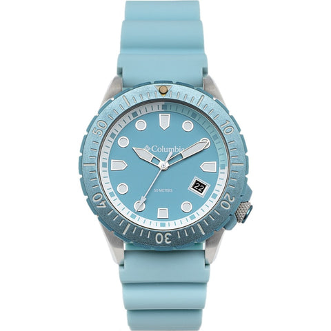 Pale Blue Pacific Outlander Rubber Analogue Columbia Watch CSC04-005