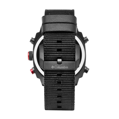 Black Ridge Runner Nylon Analogue-Digital Columbia Watch CSC05-003