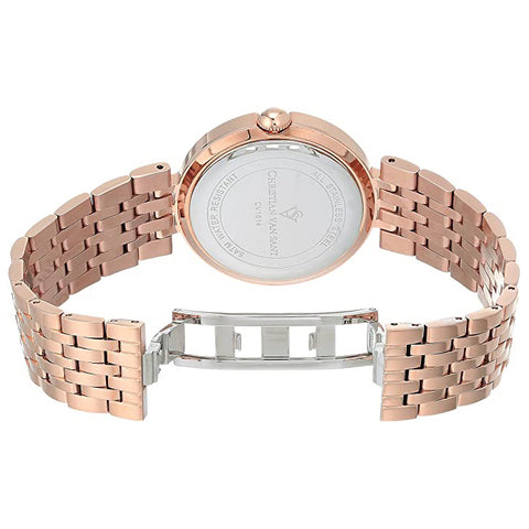 Ladies Rose gold Jasmine Stainless Steel Analogue Christian Van Sant Watch CV1614