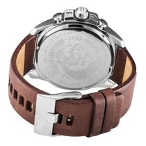 Men's Mega Chief Brown Leather Chronograph Diesel Watch DZ4290