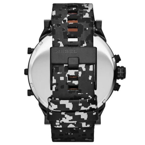 Men's Black Mr Daddy Camouflage Strap Chronograph Diesel Watch DZ7311