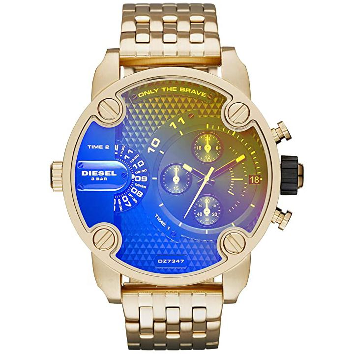 Men's Little Daddy Gold Stainless Steel Chronograph Diesel Watch DZ7347