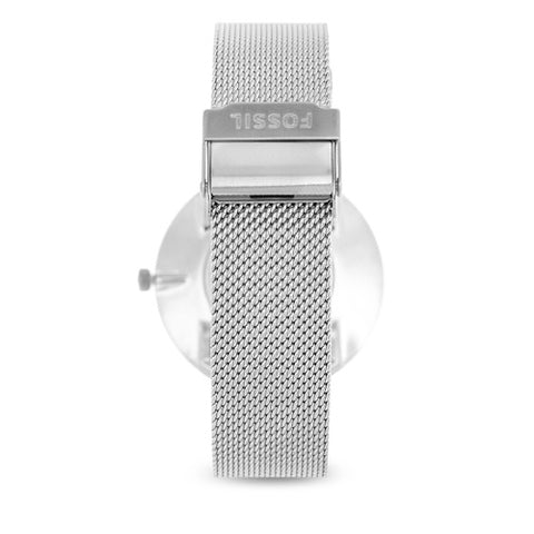 Ladies Silver Essentialist Stainless Steel Analogue Fossil Watch ES4610