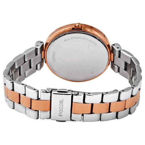 Ladies Silver Bertha Madeline Stainless Steel Analogue Fossil Watch ES4640