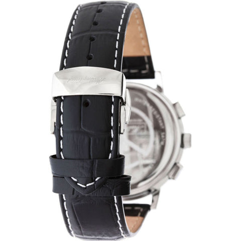 Mens's Black Sport Classic Leather Analogue Mathey Tissot Watch H9315CHRLAI