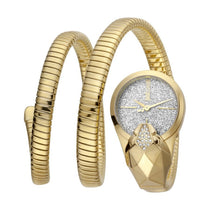 Ladies Gold Glam Snake Stainless Steel Analogue Just Cavalli Watch JC1L114M0035