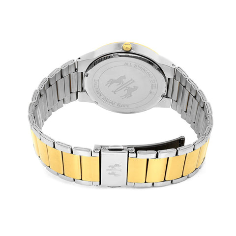 Men's Silver Gold Clarity Stainless Steel Analogue Jivago Watch JV3513