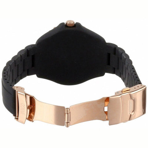 Ladies Black Cherie Rubber Analogue Jivago Watch JV8212