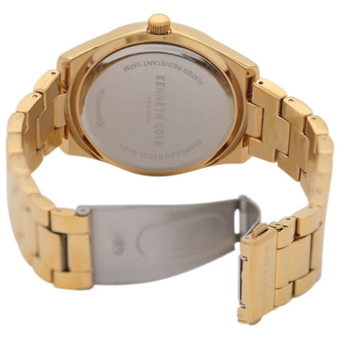 Ladies Gold Classic Stainless Steel Analogue Kenneth Cole Watch KC50664001