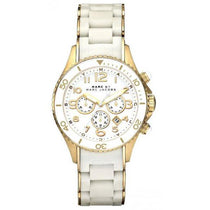 Ladies Rock Two-Tone White Chronograph Marc Jacobs Watch MBM2546