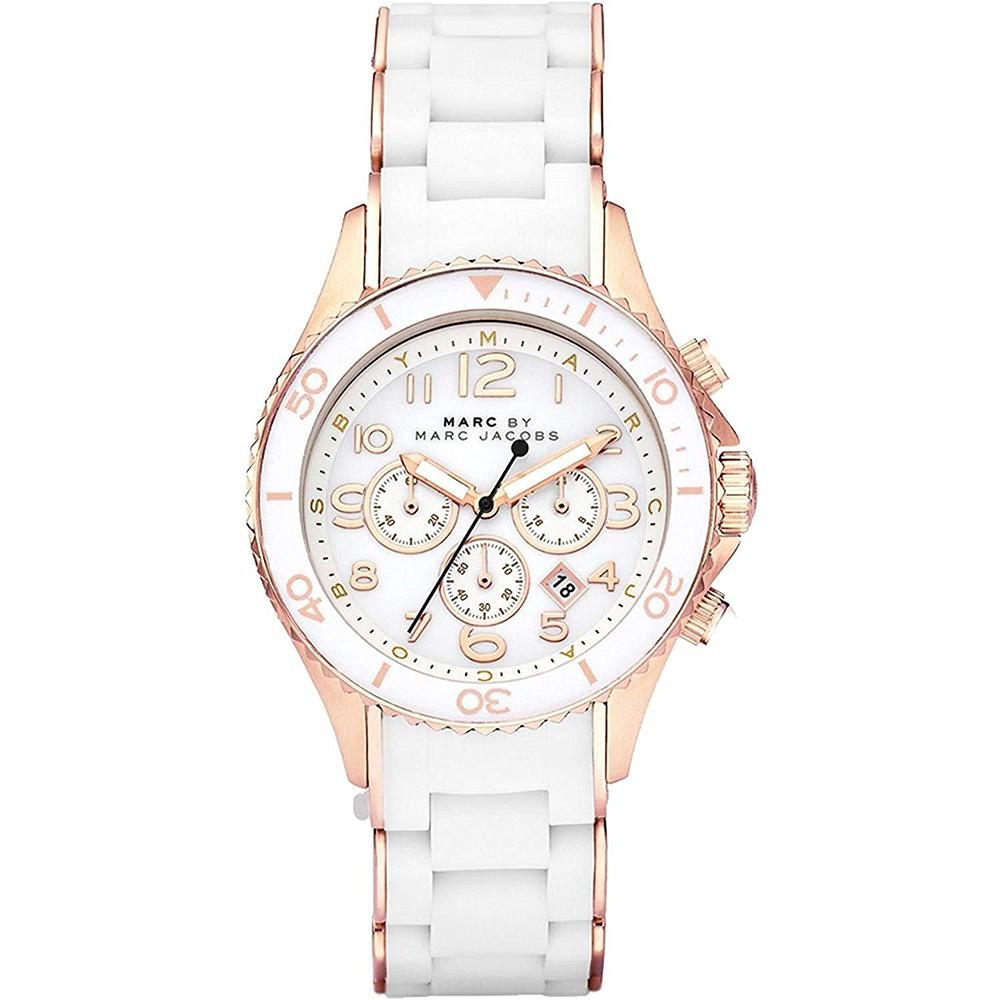 Ladies Rock Two-Tone Rose Gold Chronograph Marc Jacobs Watch MBM2547