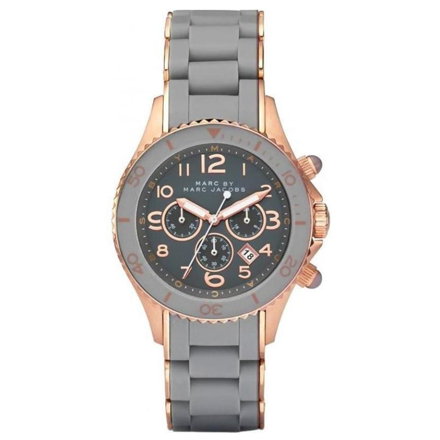 Ladies Rock Grey Stainless Steel Chronograph Marc Jacobs Watch MBM2550