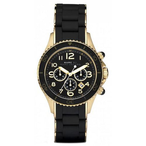 Ladies Black and Gold Stainless Steel Marc Jacobs Watch MBM2552