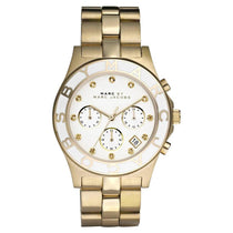 Ladies Blade Gold Stainless Steel Chronograph Marc Jacobs Watch MBM3081