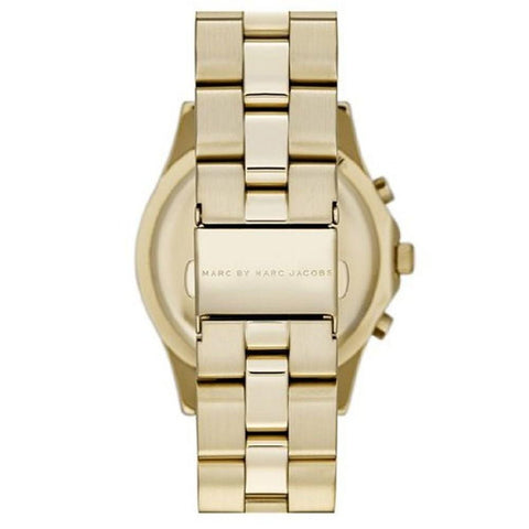 Ladies Blade Gold Stainless Steel Chronograph Marc Jacobs Watch MBM3101