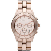 Ladies Rose Gold Stainless Steel Chronograph Marc Jacobs Watch MBM3102