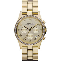 Ladies Henry Glitz Gold Stainless Steel Chronograph Marc Jacobs Watch MBM3105