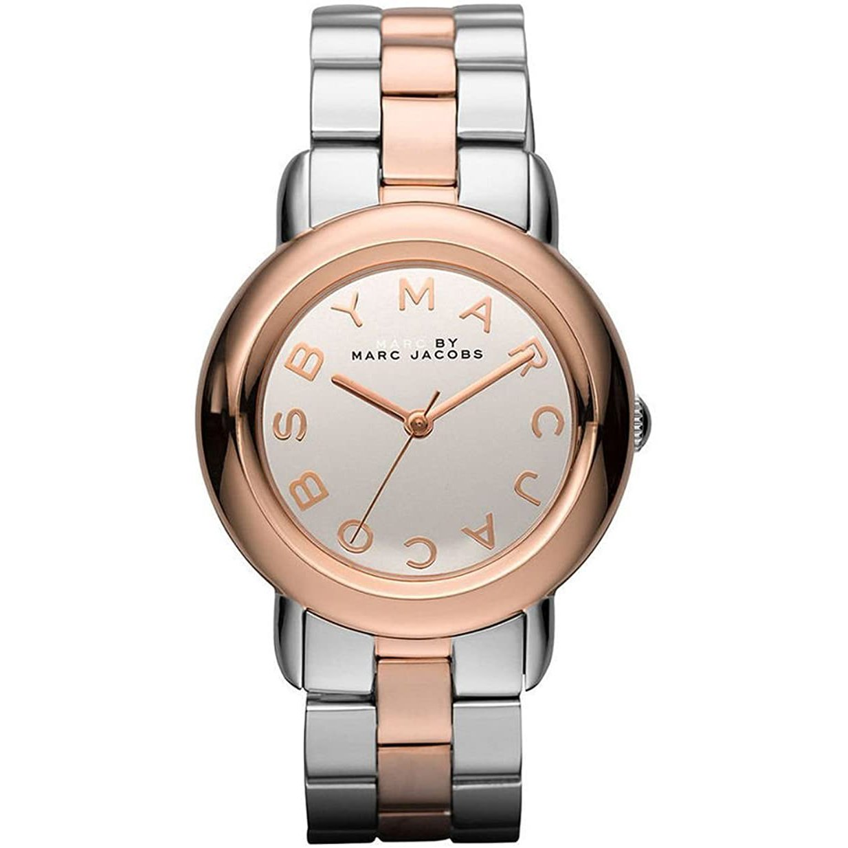 Ladies Marci Mirror Silver Rose Gold Stainless Steel Marc Jacobs Watch MBM3170