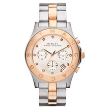 Ladies Blade Two-Tone Rose Gold Stainless Steel Marc Jacobs Watch MBM3178
