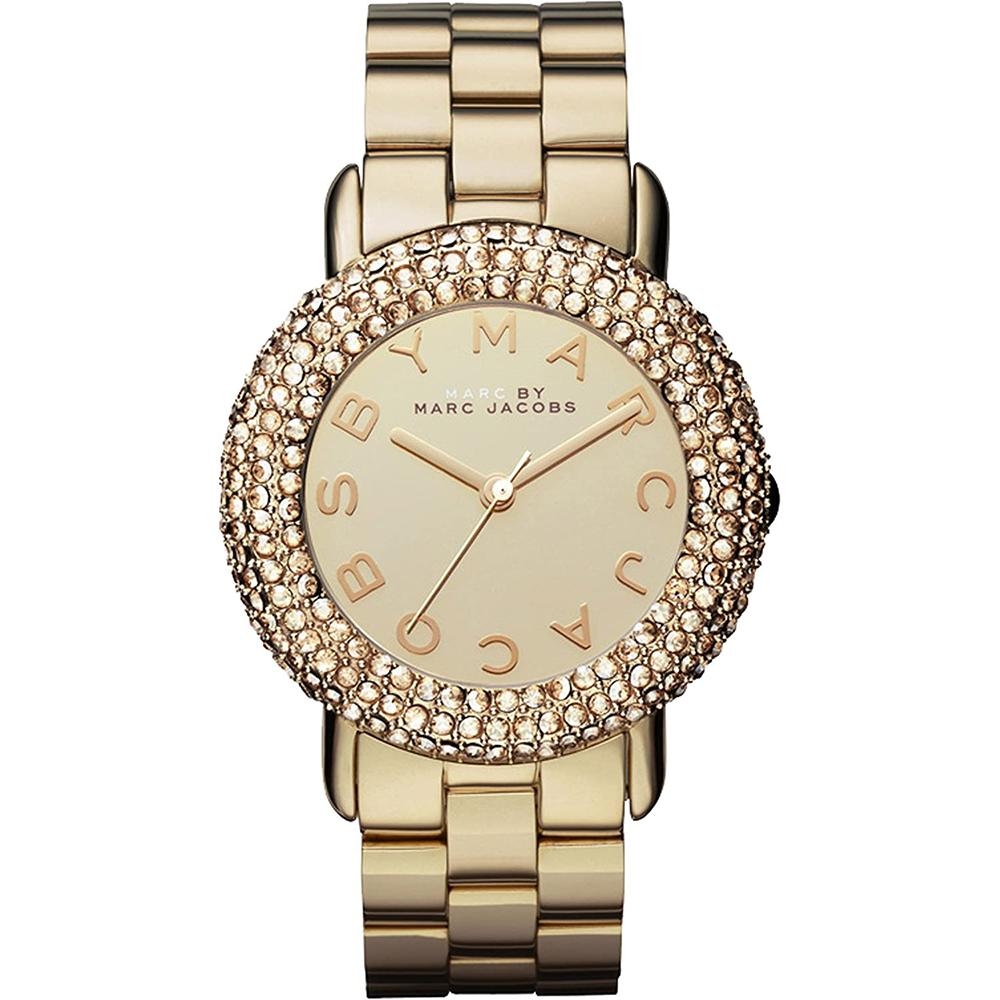 Ladies Marci Crystal Gold Stainless Steel Marc Jacobs Watch MBM3191