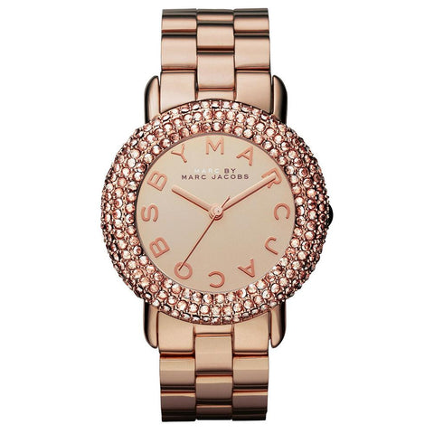 Ladies Marci Crystal Rose Gold Stainless Steel Marc Jacobs Watch MBM3192