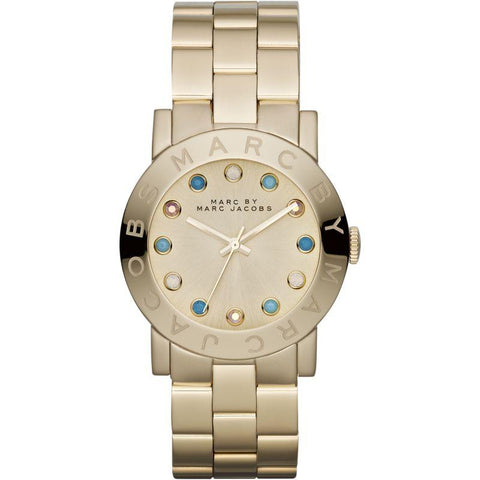 Ladies AMY Gold Stainless Steel Marc Jacobs Watch MBM3215