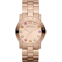 Ladies AMY Rose Gold Stainless Steel Marc Jacobs Watch MBM3216