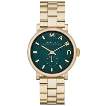 Ladies Baker Gold Green Dial Stainless Steel Marc Jacobs Watch MBM3245