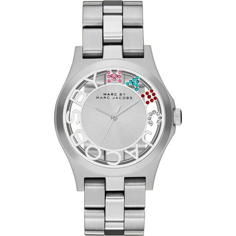 Ladies Henry Skelton Silver Stainless Steel Marc Jacobs Watch MBM3262