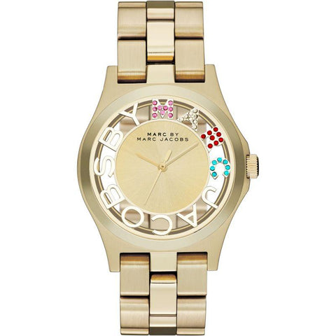 Ladies Henry Skelton Gold Stainless Steel Marc Jacobs Watch MBM3263