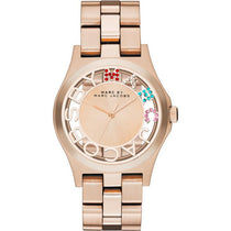 Ladies Henry Skelton Rose Gold Stainless Steel Marc Jacobs Watch MBM3264