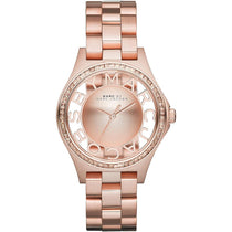 Ladies Henry Glitz Rose Gold Stainless Steel Marc Jacobs Watch MBM3339