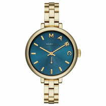 Ladies Sally Blue Dial Gold-Tone Marc Jacobs Watch MBM3366