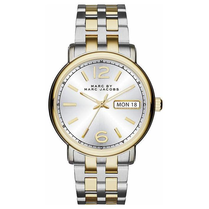 Ladies Fergus Silver Two-Tone Stainless Steel Marc Jacobs Watch MBM3426