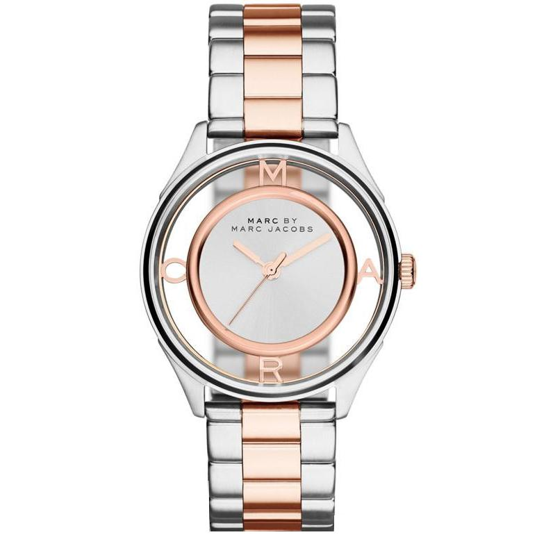 Ladies Tether Silver Transparent Dial Marc Jacobs Watch MBM3436