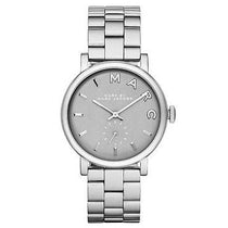 Ladies Baker Silver Tone Stainless Steel Marc Jacobs Watch MBM8630