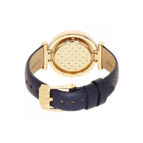 Ladies Averi Navy Blue Leather Strap Michael Kors Watch MK2526