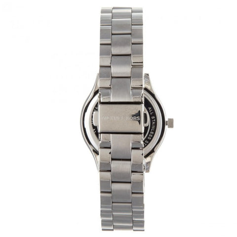 Ladies White Slim Runway Stainless Steel Analogue Michael Kors Watch MK3514