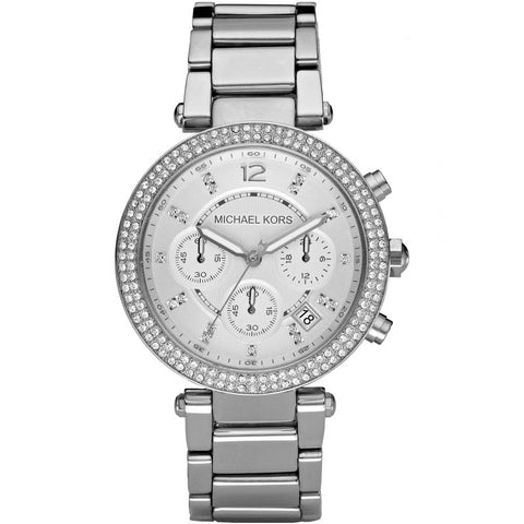 Ladies Parker Silver Chronograph Michael Kors Watch MK5353