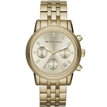 Ladies RITZ Gold-Tone Stainless Steel Chronograph Michael Kors Watch MK5676