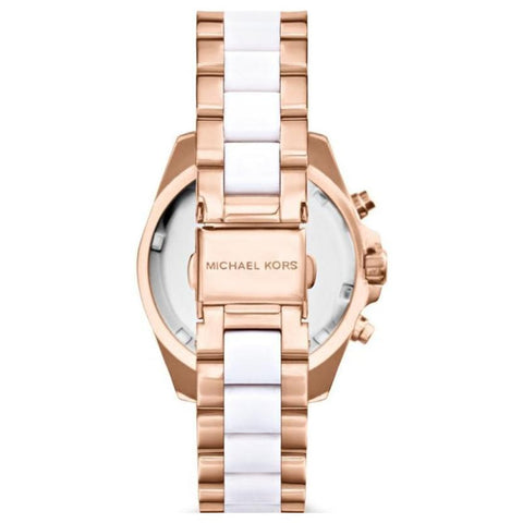 Ladies Bradshaw Mini Two-Tone Chronograph Michael Kors Watch MK5907