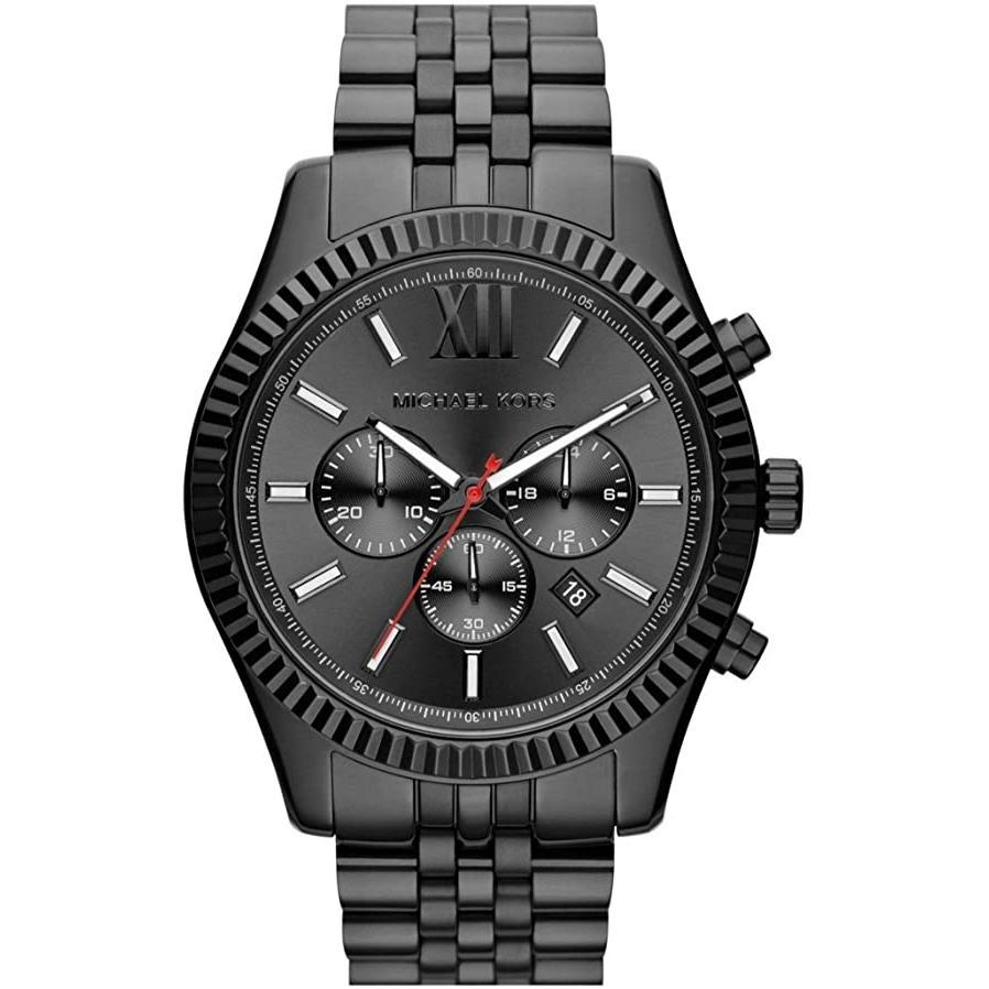 Men's Lexington Black Stainless Steel Chronograph Michael Kors Watch MK8320