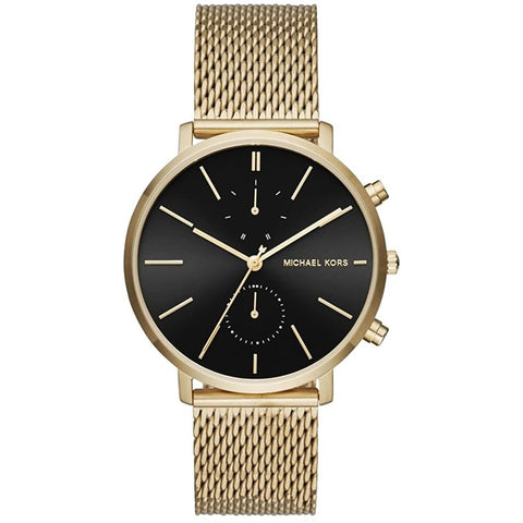 Men's Jaryn Gold Stainless Steel Mesh Chronograph Michael Kors Watch MK8503