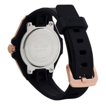 Ladies Black G-Shock Rubber Analogue Casio Watch MSGS500G-1A