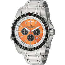 Men's Orange Aviador Pilot Stainless Steel Chronograph Oceanaut Watch OC0116