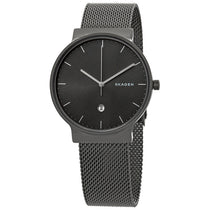 Men's Grey Ancher Stainless Steel Mesh Analogue Skagen Watch SKW6432