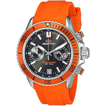 Men's Orange Thrash Rubber Chronograph Seapro Watch SP0331